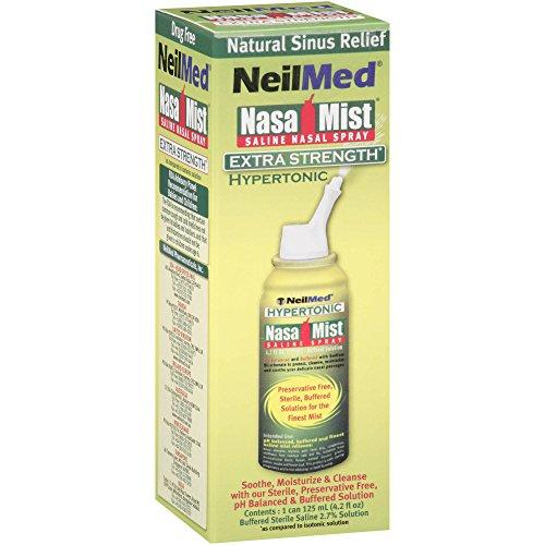 NeilMed Nasal Mist Extra Strength Nasal Saline Spray, 4.2 fl oz (Pack of 2) (Neilmed Nasamist Saline Spray)