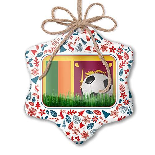 NEONBLOND Christmas Ornament Soccer Team Flag Sri Lanka Red White Blue Xmas