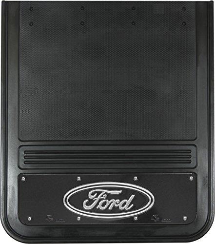 Gatorback Ford Oval Truck Mud Flaps Rear Dually Pair 21x24 Black Wrap