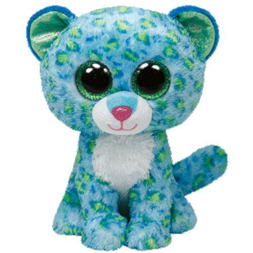 (Ty Beanie Boos Buddies Leona Blue Leopard Medium)
