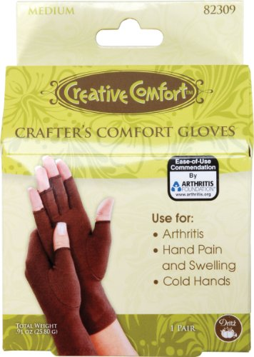 Dritz 82309 Crafters Comfort Glove-Medium (Therapeutic Craft Glove)