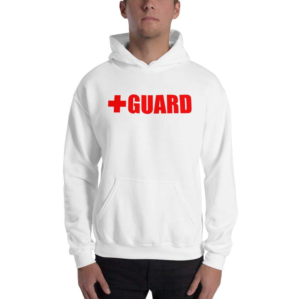 White XXXLarge BLARIX Lifeguard Hooded Sweatshirt