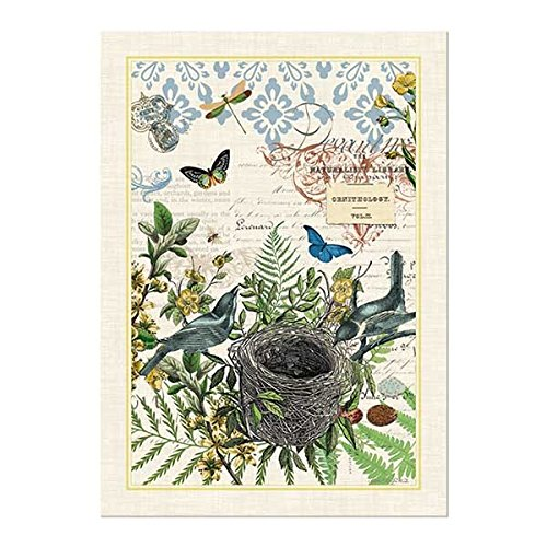 Michel Design Works 4 Piece Into The Woods Birds and Butterflies Kitchen Set - 2 Towels, Oven Mitt, Potholder by Michel Design Works (Image #1)
