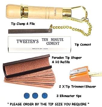 11mm Brass Ferrule for Snooker//Pool Cue /& Elkmaster Cue Tip