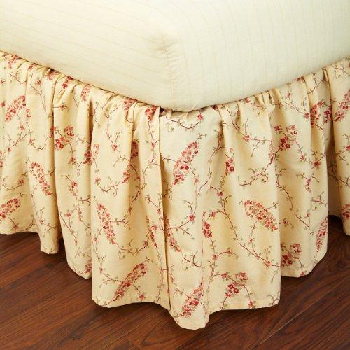 (Lauren by Ralph Lauren Mirabeau Paisley Red Floral Queen Bedskirt)
