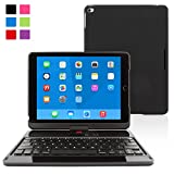 iPad Air 2 Keyboard Case, SnuggTM - Wireless Bluetooth Keyboard Cover (Black) 360°