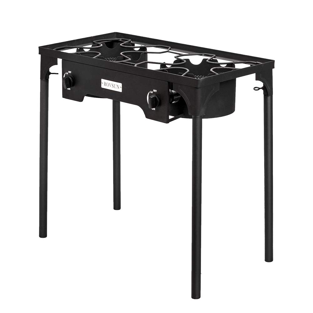 Stand Cooker for Backyard Cooking Camping Home Brewing Canning Turkey Frying 20 PSI CSA Listed Regulator ROVSUN Outdoor Propane Gas Stove High Pressure