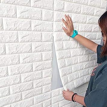 77cm x 70cm 3D Tapete Wandpaneele Selbstklebend Ziegel Wasserdicht Wandaufkleber