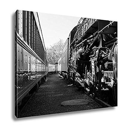 Canvas Santa Fe >> Amazon Com Ashley Canvas Santa Fe Locomotive 5021 At