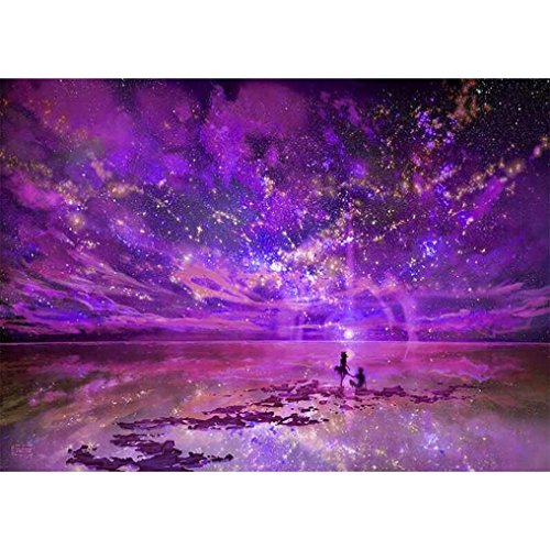 Usstore 1PC 5D DIY The Sky Multicolor Art Painting Diamond Embroidery Rhinestone Diamond Painting Cross Crafts Stitch For Home Room Decoration Mural Collect (B)