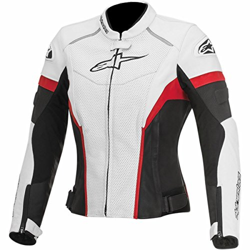 Alpinestars GP Plus R Perforated Women's Street Motorcycle Jackets - White/Black/Red / 48