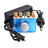 Yeeco Hifi Mini Bluetooth Amplifier 30W+30W DC 12/24V Wireless Bluetooth Stereo Dual Channel Audio Receiver Power Amp Ampli Board with US-type Power Supply Adapter for Sound Audio System