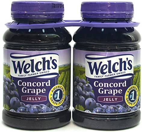 Welch's Concord Grape Jelly, 30 Ounce (Pack of 2)