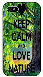 iPhone 5 / 5s Keep Calm and love nature, tree - black plastic case / Keep Calm, Motivation and Inspiration