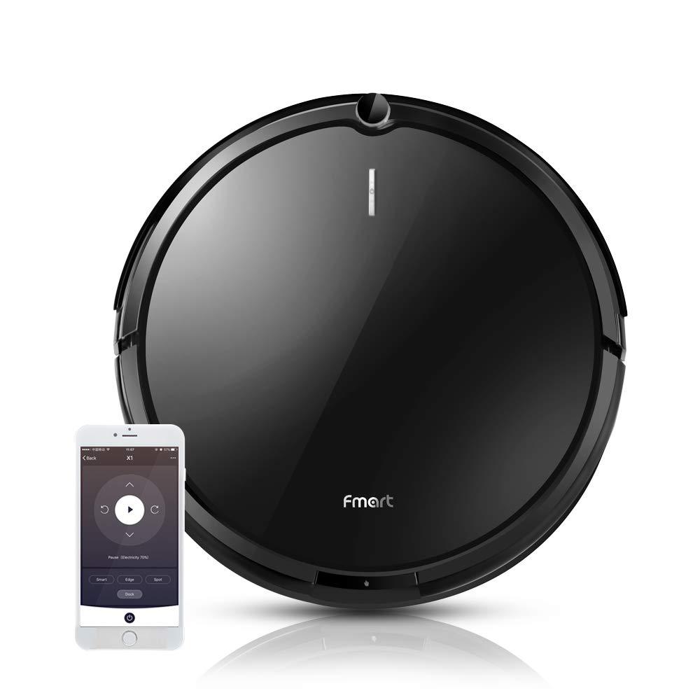 Acquisto Fmart X1 Aspirapolvere Robot Aspirapolvere Suction 1800pa con mappatura e app connessa Wi-Fi, Google Home e Alexa per peli lunghi di animali, tappeti, piastrelle, pavimenti duri Prezzo offerta
