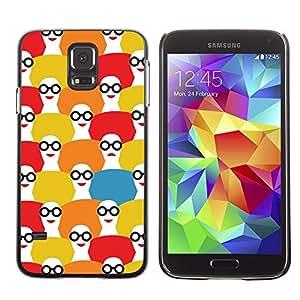 Be Good Phone Accessory // Dura Cáscara cubierta Protectora Caso Carcasa Funda de Protección para Samsung Galaxy S5 SM-G900 // Glasses Smart Teacher Lady Pattern Art