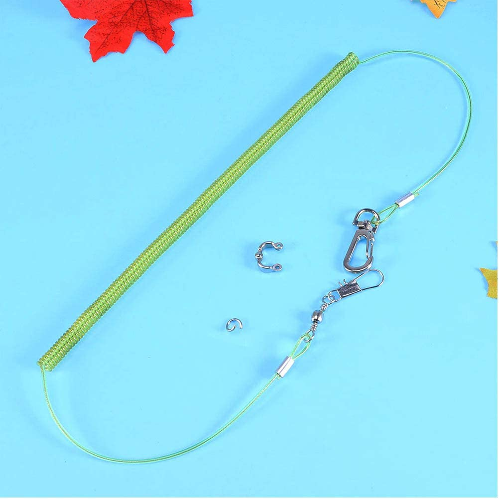 Balacoo Bird Parrot Leash Outdoor Flying Trainning Rope Leash Anti-Bite Elastic String for Parrot Macaw Cockatoo Cockatiel Conure Random Color