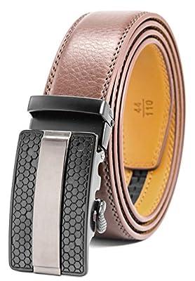 Men's Belt Ratchet Dress Belt with Automatic Buckle Brown/Black-Trim to Fit-35mm wide