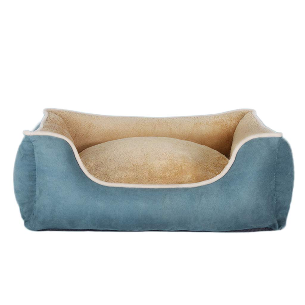 bluee-2 M bluee-2 M PIAOLING Kennels Kennel Removable and Washable Four Seasons Pet Mat Winter Warm Pet Nest (color   bluee-2, Size   M)