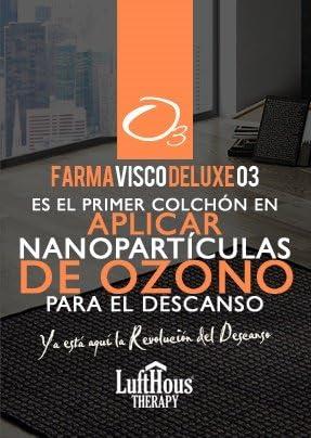 Colchón Farmavisco Deluxe o3 135X180-LUFTHOUS: Amazon.es: Hogar