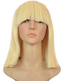 Blonde Sia Thick Blunt Bob Wig
