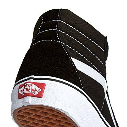 Bestelwagens Unisex-adult Sk8-hi Klassieke Suede / Canvas Sneaker Zwart