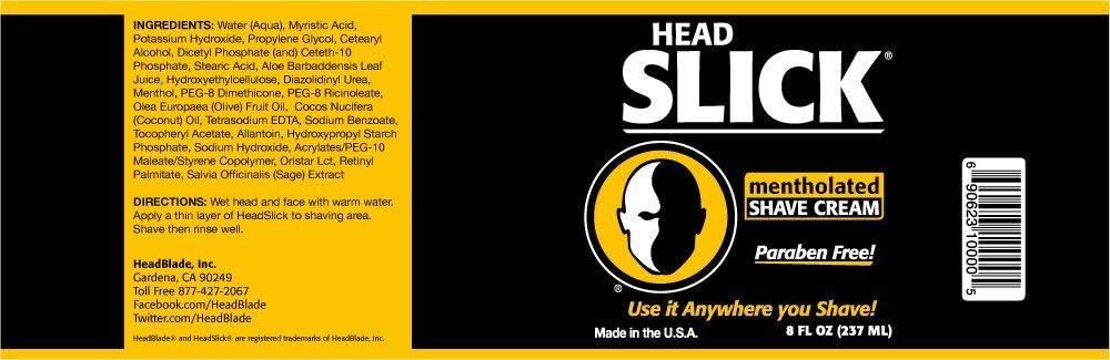 HeadBlade – headslick mentholated crema de afeitado, uso en ...