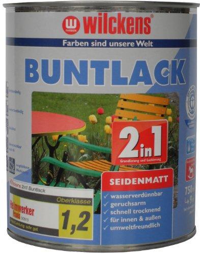 Wilckens 2in1 Buntlack seidenmatt, RAL 9010 reinweiß, 750 ml 12491000050