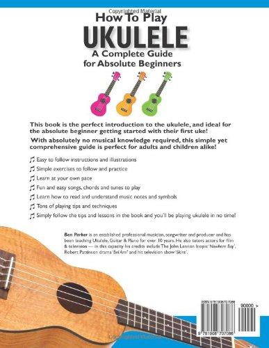 Absolute Beginners Ukulele Learn to Play Tutor Method Teach Yourself Music Book