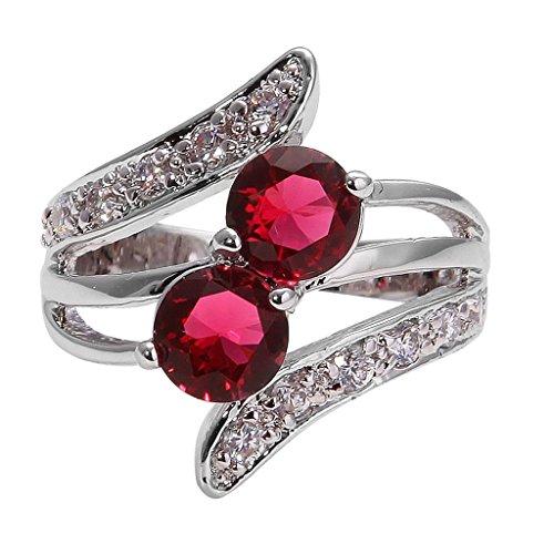 Followmoon 18K Gold Plated Use Cubic Zirconia Crystal Engagement Wedding Ring