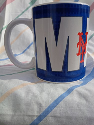 MLB New York Mets Wordmark Mug, 16 oz., Blue by Forever Collectibles