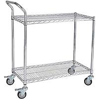 Adjustable Storage Shelves Rack Silver 2 Shelf Mesh Shelving Unit Metal Storage Shelves for Pantry Closet Kitchen…