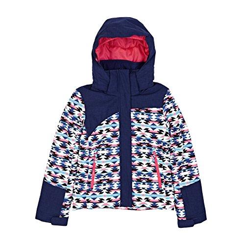 Roxy Snow Jackets - Roxy Flicker Girls Snow Jacket - Geofluo/Blue Print by Roxy
