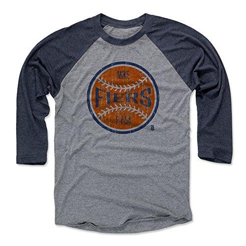 500 LEVEL's Mike Fiers Baseball Shirt XXX-Large Navy / Heather Gray - Houston Baseball Fan Apparel - Mike Fiers Houston Ball O