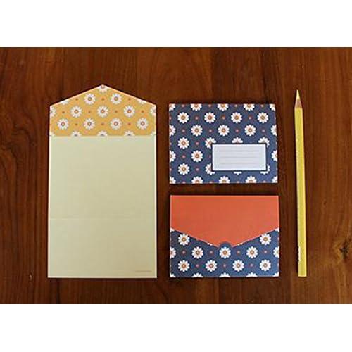 cyann 6 cartes postales et de 6 enveloppes