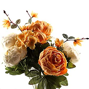 Yunuo 1PC Artificial Silk Peony Flowers Bouquets Vintage Decoration for Home,Wedding,Party Decor 82