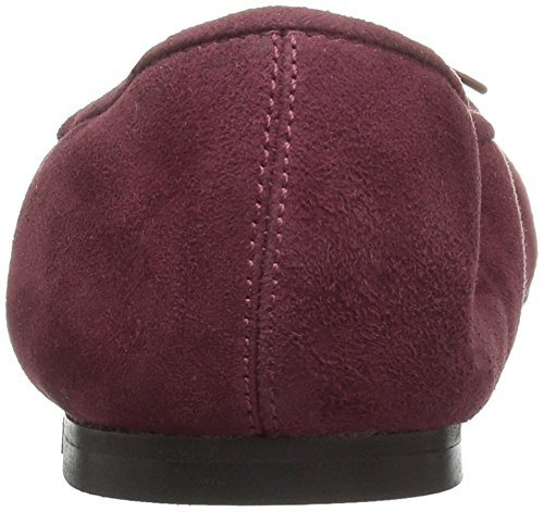206 Ballet Womens 206 Madison Suede Burgundy Collective Flat Collective Uqw6Saw