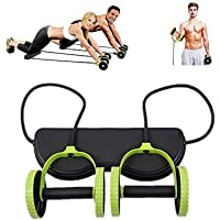 DODOLOOK New Sport Core Double AB Roller Wheel Fitness Abdominal Exercises Equipment Waist Slimming Trainer at Home Gym