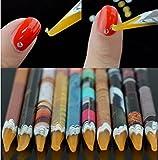 nail gem pencil - Self Adhesive Resin Rhinestones Picker Pencil 10Pcs Nail Art Gem Crystal Pick up Tool Wax Pen Long