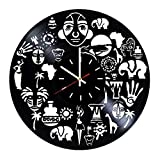Everyday Arts Africa Style Design Vinyl Record Wall Clock - Get Unique Bedroom or Garage Wall Decor - Gift Ideas for Friends, Brother - Darth Vader Unique Modern Art