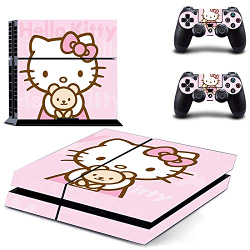 Adventure Games - PS4 ORIGINAL - Hello Kitty - Playstation 4 Vinyl Console Skin Decal Sticker + 2 Controller Skins Set