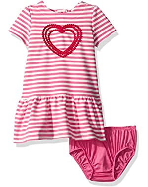 Baby Girls' Pink Striped French Terry Dress