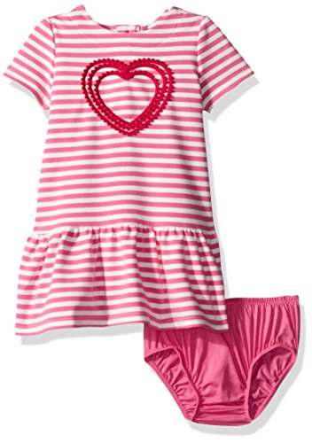 - Gymboree Baby Toddler Girls' Pink Striped French Terry Dress, Pink Convertible, 6-12