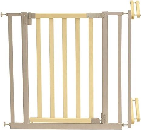 Roba-Kids 1548 - Barrera de seguridad para escalera con acabado de acero y madera: Amazon.es: Bebé