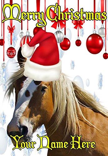 Immagini Di Natale Con Cavalli.Cavallo Ptcc162 Cappello Di Babbo Natale Natale Carta A5