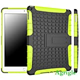 AGRIGLE Impact Resistant Rugged Dual Layer Case Cover with KickStand for Apple iPad Air 2 /iPad 6 (Green2)