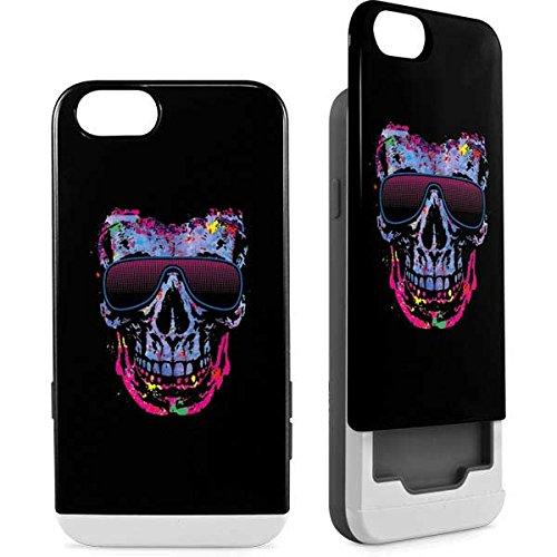 Skull & Bones iPhone 6/6s Case - Neon Skull with Glasses   Skinit Art Wallet Case