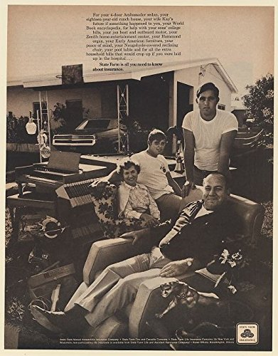 1970 State Farm Insurance All You Need To Know Family Household Items Print Ad  67436