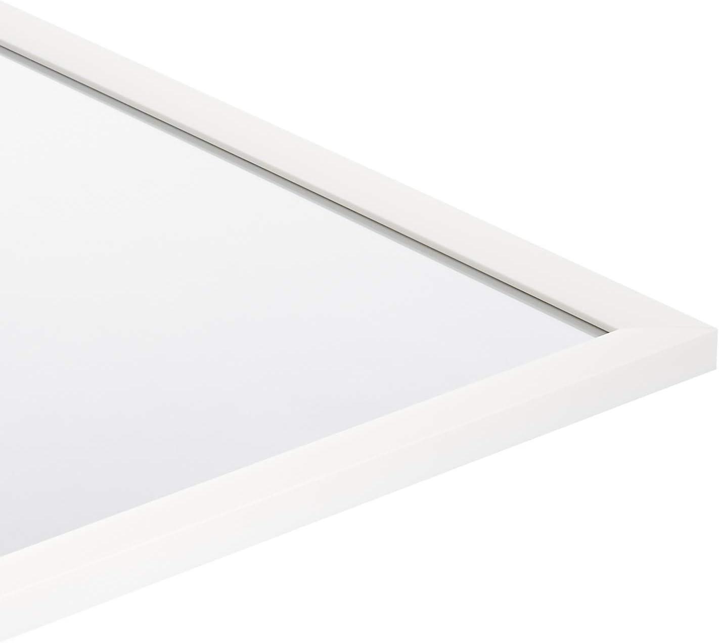 Basics Miroir mural rectangulaire Laiton 60,9 x 91,4 cm Encadrement biseaut/é