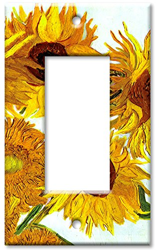 Single Rocker Cover (Art Plates - Van Gogh: Sunflowers Switch Plate - Single Rocker)